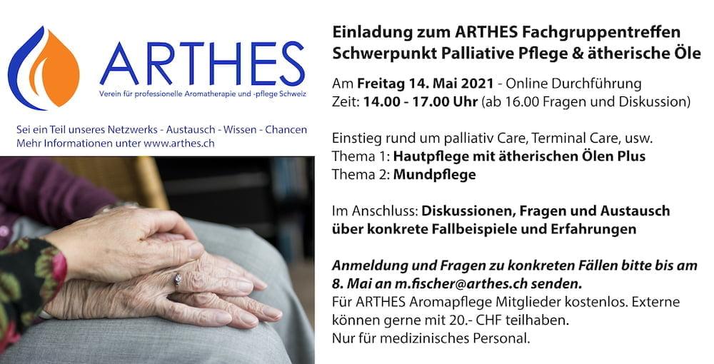 ARTHES Fachgruppentreffen Schwerpunkt Palliative Pflege und ätherische Öle